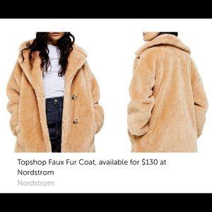 "TOP SHOP ""BORG Teddy"" Coat Size M"